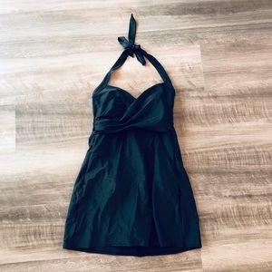 Merona Black Swimsuit Dress S Halter